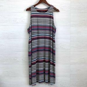 Athleta Wiggle Striped Soft Modal Blend Dress